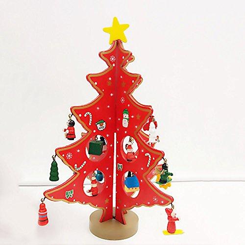 Mini supporto per albero di Natale, Asdomo 20173D in legno dell' albero di Natale Decorazioni pendente Premium DIY Christmas Home party Decor