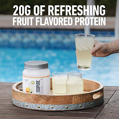 "ISOPURE INFUSIONS, Refreshingly Light Fruit Flavored Whey Protein Isolate Powder, ""Shake Vigorously"