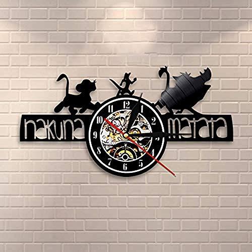 ClockHM Música Reloj De Pared Vinilo Reloj De Pared Nostalgia Retro El Rey León Rey León@See_Chart