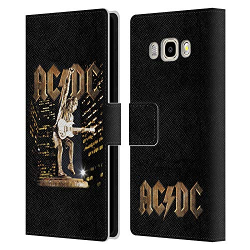 Official AC/DC ACDC Stiff Upper Lip Album Art Leather Book Wallet Case Cover Compatible For Samsung Galaxy J5 (2016)