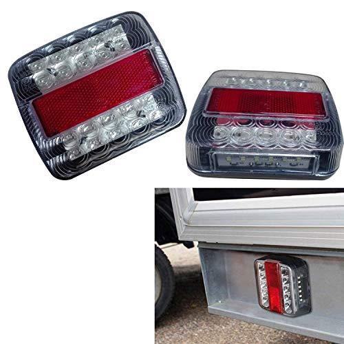 NEUF 2 x 5 Fonction lumière 26 LED Tableau lampe Stop Remorque van Caravan Truck 12 V