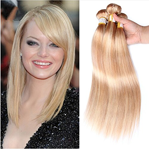 Ruma Hair Best 8A Brazilian Ombre Human Hair Weaves Silky Straight Mixed Piano Color #27/613 Honey Blonde Highlight Remy Virgin Hair Extensions 3/4 Bundles Lot (18''20''22''24'')