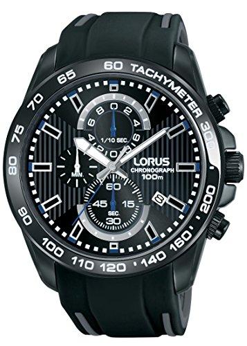 Lorus Watches Herren Chronograph Quarz Uhr mit Kautschuk Armband RM385CX9