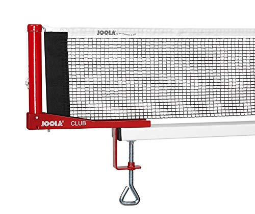 """JOOLA Club Competition Table Tennis Net and Post Set - Portable and Easy Setup 72"""" Regulation Size Ping Pong Screw On Clamp Net"""