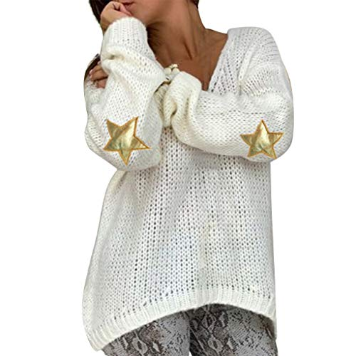 Why Choose KYLEON Women Sweaters Casual Star Print Christmas Party Long Sleeve Knitted Pullover Swea...