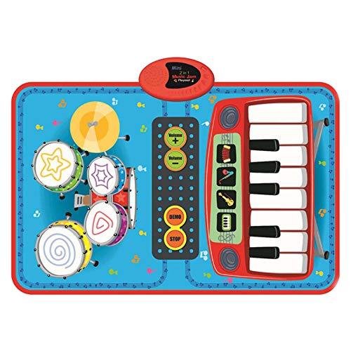 Alfombrillas para Teclado de Piano para niños Alfombra Musical para Pista de Baile Alfombra Musical Manta de Animales Touch Playmat Juguetes de educación temprana para bebés y niños