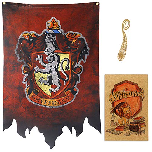 birthday decor for harry flag potter Wall Banner, gryffindor | hufflepuff | ravenclaw | Casa Slytherin bandera de decoración (72X120CM)