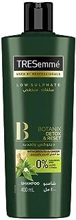 Tresemme Botanix Natural Detox & Reset Shampoo with Green Tea & Ginger, 400ml