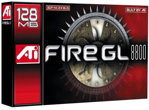 ATI FireGL 8800 Grafikkarte, 128MB DDR, Dual-Monitorunterstützung