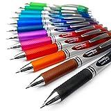 Pentel EnerGel XM BL77Druck-Gelschreiber, 0,7mm,52% recyceltes Material,12Stück, verschiedene Farben