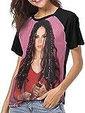 Ovilsm Camisetas para Mujer,Shakira Donde Estan Los Ladrones Womens Short Sleeve Raglan Baseball T-Shirts Black