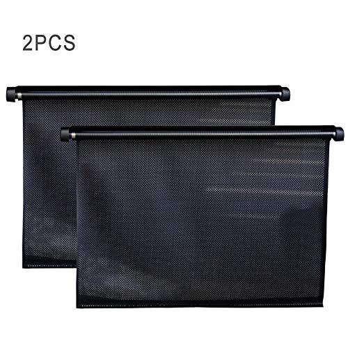 LBAXY Auto einziehbaren Rollladen Sonnenschutz Fahrzeugfrontscheibe Sonnenschirm Rolladens Wärmedämmung Sunblocker Vorhang Seitenblock