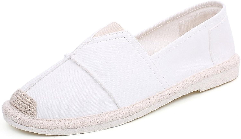 GLSHI Men's Canvas shoes 2018 Summer New Low-Top Linen Soles Mens Breathable Fashion Flat Loafers Espadrilles