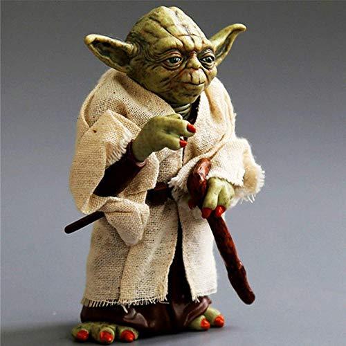 cheaaff Disney Star Wars 9 Figuras série Noire Dark vador Kylo REN Stormtrooper Boba Fett 6 pouces Figuras Film Enfant jouet pour enfants-13cm Yoda