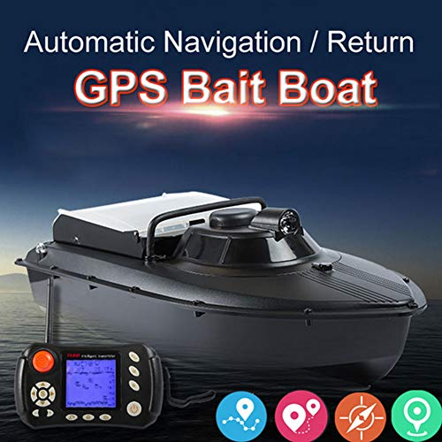 QTSR RC Ferngesteuertes Baitboat Boot GPS Function 300 Meters Control Distance Built-in Propeller Silent Drive für Erwachsene & Kinder, Geschenk