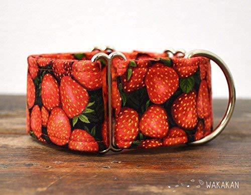 Collar Martingale Para Perro: Strawberries, Hecho a Mano en España por Wakakán: Amazon.es: Handmade