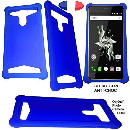 Custodia in Silicone Compatibile con NGM Dynamic Racing 3 Color - Blu - CEKATECH Protezione Universale di qualità