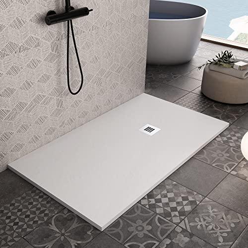 OLIMPO DOCCE Piatto Doccia in marmoresina Bianco Effetto Pietra Cemento Star Plus - 70x140
