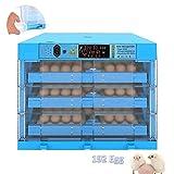 ZFF Incubatrice per Uova 192 Uova Azienda Agricola Casa Uso Automatico Pollame Hatcher Temperatura umidità Controllo per Quaglie Polli Anatre Oca Colomba Fagiano