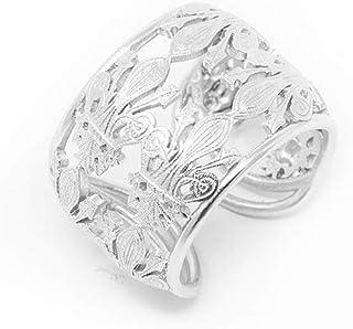 Anello in argento con gigli
