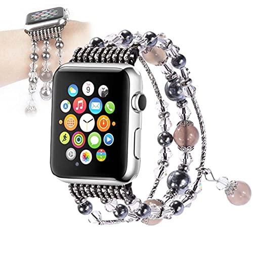 YONGCHY Apple Watch Series Correa 44mm 42mm Diamante Mujeres Reemplazo Banda Joyería Pulsera Pulsera para iWatch Series 6/5/4/3/2/1,C,38/40mm