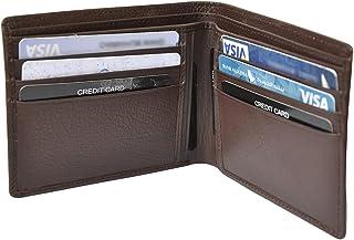 محفظة بطاقات للرجال من ماجلان، - جلد - بني
