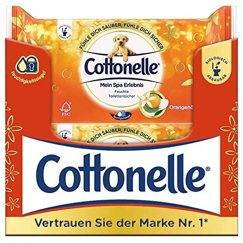 Cottonelle feuchtes Toilettenpapier Mein SPA Orangenöl, 12 x 44 Tücher