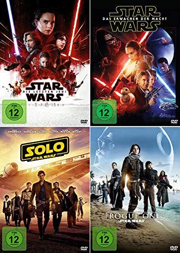 Star Wars 4er Set - Erwachen der Macht + Rogue One + Solo + Die letzten Jedi