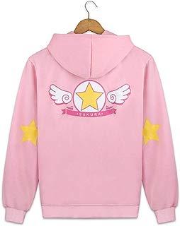 Anime Cardcaptor Sakura Jacket Sweatshirt Cosplay Cotton Hooded Coat