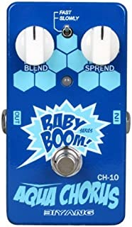 Biyang CH-10 Guitar Bass Effect Pedal Aqua Chorus Baby Boom Series True Bypass (CH-10)
