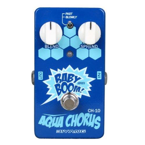 Biyang CH-10 Chorus Guitar Effect Pedal, Baby Boom Series Analog Aqua Chorus with True Bypass (CH-10)