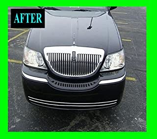 312 Motoring fits 2003-2009 Lincoln Town CAR Lower Chrome Grille Grill KIT TOWNCAR 2004 2005 2006 2007 2008 03 04 05 06 07 08 09 Executive Cartier Signature Limited