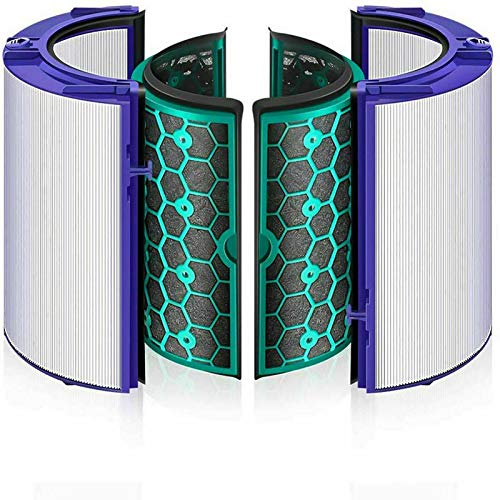 360 Degree Air Purifier Fan Glass HEPA Filter & Inner Activated Carbon Filter Compatible with TP04 HP04 DP04 TP05 HP05 TP07 HP07 Sealed Two Stage 360° Replacement Filter System 969048-02 969048-03