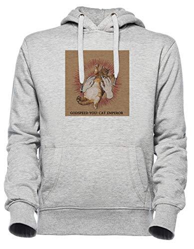 Luxogo Godspeed You! Black Emperor T-Shirt Unisex Grigio Felpa con Cappuccio Uomo Donna Unisex Grey Jumper Men's Women's