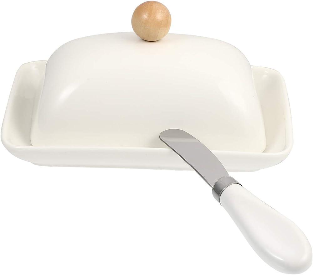 Cabilock , piatto in ceramica per burro , con coperchio 2451ZV113T