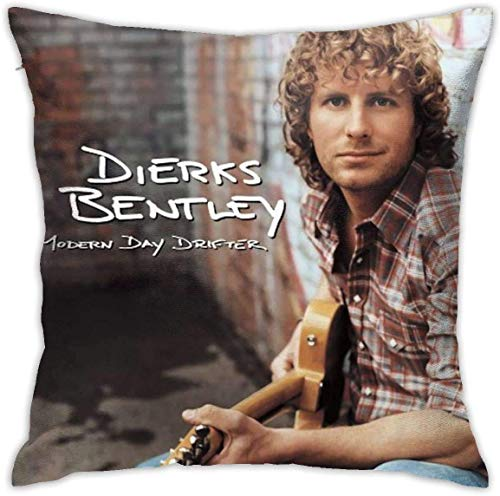 AOOEDM Dierks Bentley Black Throw Pillow Decorative Pillowcases 18x18inch Pillow Cases Home Car Decorative,White,18x18 inch