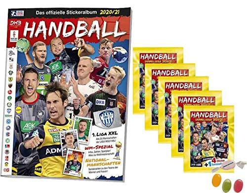 Blue Ocean Victus Handball Sticker 2020/2021 - Stickeralbum + 5X Stickertüten Saison 20/21 zusätzlich 1 x Sticker-und-co Fruchtmix Bonbon