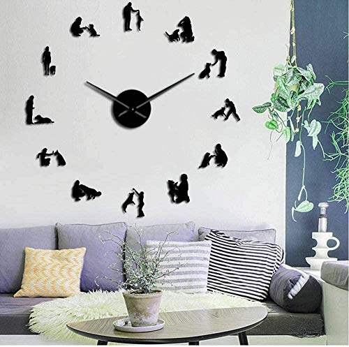 DIY Geometric Wall Watches Mirror Acrylic Quartz Wall Clock Stars and Butterfly Decoration Wall Stickers 50X50Cm Golden Silver