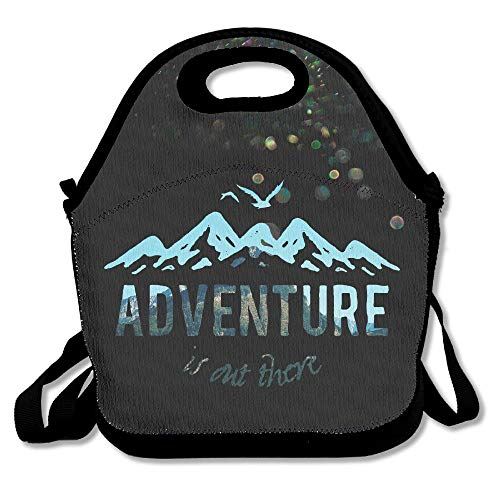 N / A Adventure is out There Lunch Tote Bag Lunch Box Neoprene Tote para niños y Adultos para Viajes y Picnic