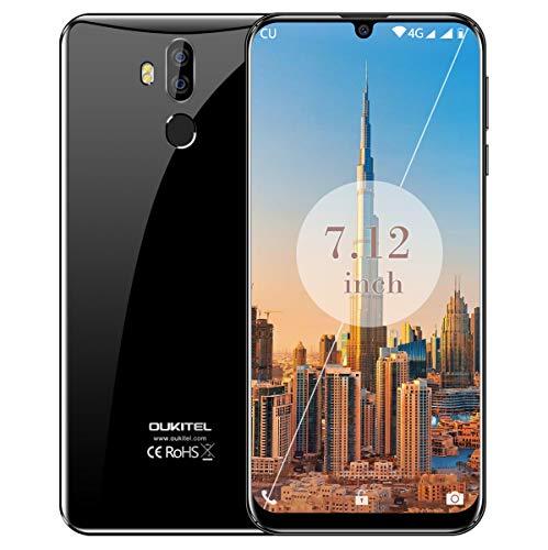 Telefono Movil Pantalla 7.12 Pulgadas,OUKITEL K9 Moviles 64GB ROM 6000mAh Carga Rápida de 30W Moviles Pantalla Grande,Dual SIM 4G Smartphones Libres Android 9.0 4GB RAM,Negro
