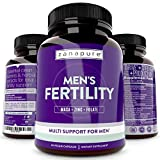 Zanapure - Plant Based Men's Fertility Supplements for Optimal Sperm Count, Testosterone Support - 60 Vegan Capsules