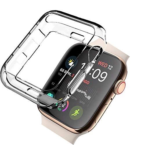 qualiquipment Custodia protettiva compatibile con Apple Watch 40 mm 44 mm Series 5 Series 4, accessorio per iWatch, custodia protettiva in silicone TPU (44 mm)