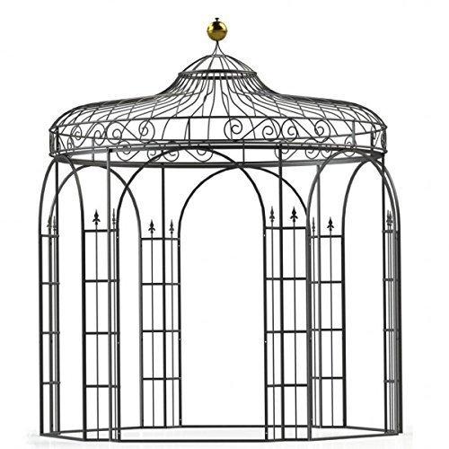 Mpire Gartenpavillon, Metallpavillon, Eisen Pavillon, Rankpavillon, Pavillon Stabil Antwerpen Ø 350 cm (Verzinkt)