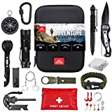 Frontera Survival Kit, 55 Pcs, Gifts for Men, Camping Accessories, Survival Gear and Equipment, Tactical Gear, First Aid Kit, Emergency Kit, Cool Gadgets for Men, EDC, Bugout Bag, Hiking Gear.