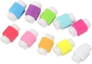 Haobase 10pcs Protector Saver Cover for iPhone iPad USB Charger Cable Cord (Assorted Color)