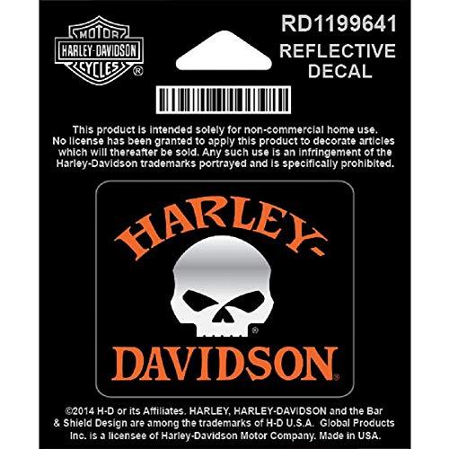 HARLEY-DAVIDSON Kleiner Aufkleber für Glatte Flächen Totenkopf Reflektierend