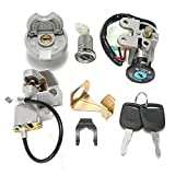 GY6 50cc Ignition Switch Key Lock Gas Tank Cap Set for Scooter Moped TaoTao Peace Roketa Jonway NST Tank