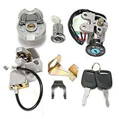 New High Quality Aftermarket replacement part This item fits for GY6 49cc 50cc Chinese Scooter Moped TaoTao Peace Roketa Jonway NST Tank Ignition Switch Key Set,3 position switch:on/off/lock Plug with 5 pins Package indcluding: key ignition with 5 wi...