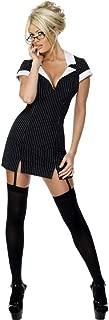 Smiffys-30737S Disfraz de secretaria, con vestido, gafas y ligas, color negro, S-EU Tamaño 36-38 Smiffy's