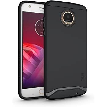 TUDIA スリムフィット MERGE 二重構造 保護ケース Motorola Moto Z2 Play (マットブラック)